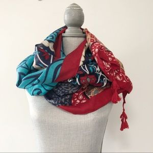 Zara large scarf with boho chic pattern